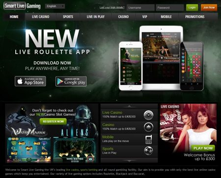 Smart Live Dealer Casino Bonus